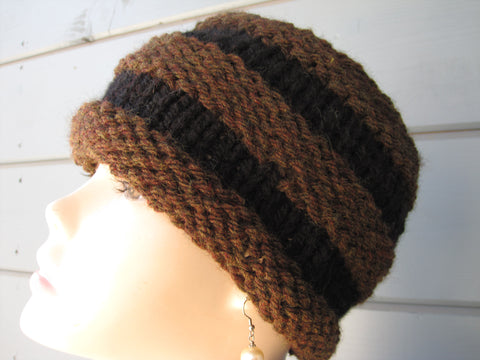 Brown & Black Mountain Hat