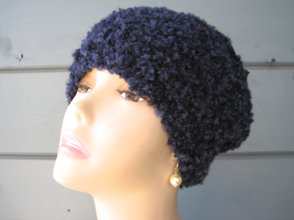 Navy Slouch Hat