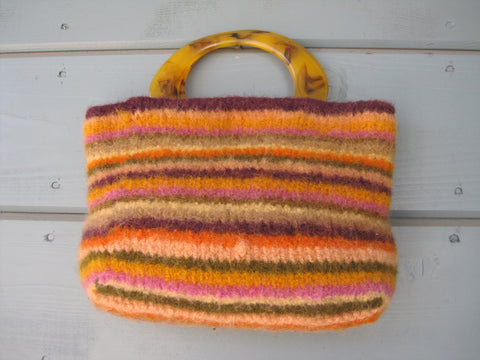 Fiesta Rainbow Felted Purse