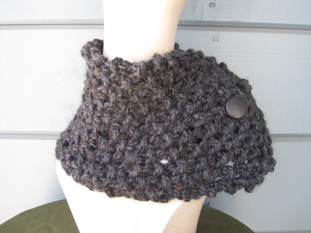 Charcoal Neck Warmer/ Head Wrap