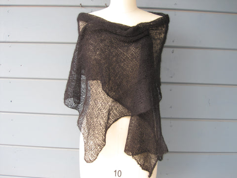 Charcoal Black Shawl