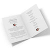 Burgundy Blush Floral Funeral Program Template 2