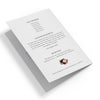 Burgundy Blush Floral Funeral Program Template 3