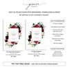 Burgundy Blush Floral Funeral Program Template 5