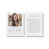 Elegant Calligraphy Funeral Prayer Card Template 2