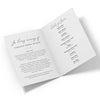 Calligraphy Funeral Program Template 2