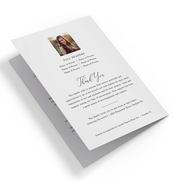 Calligraphy Funeral Program Template 3