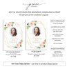 Floral Geometric Funeral Program Template 5
