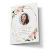 Floral Geometric Funeral Program Template