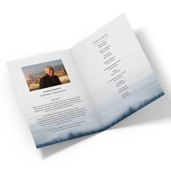 Lakeside Funeral Program Template 2