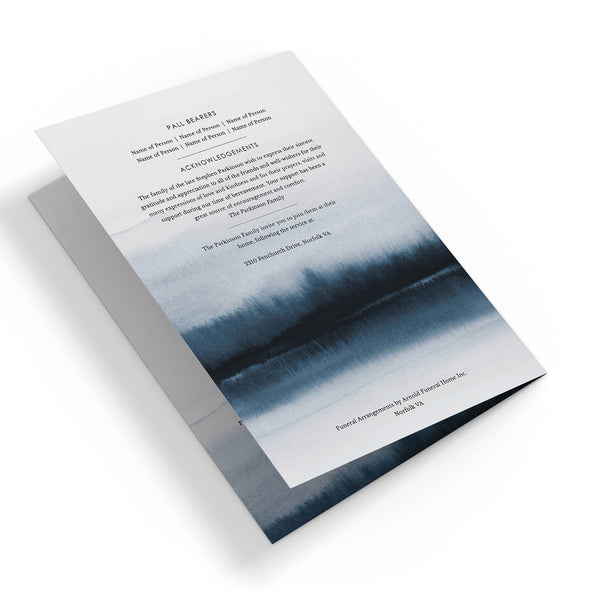 Lakeside Funeral Program Template 3