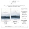 Lakeside Funeral Program Template 5