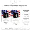 Stars & Stripes Funeral Prayer Card Template 4