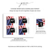 Stars & Stripes Funeral Prayer Card Template 5