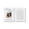 Modern Script Funeral Prayer Card Template 2