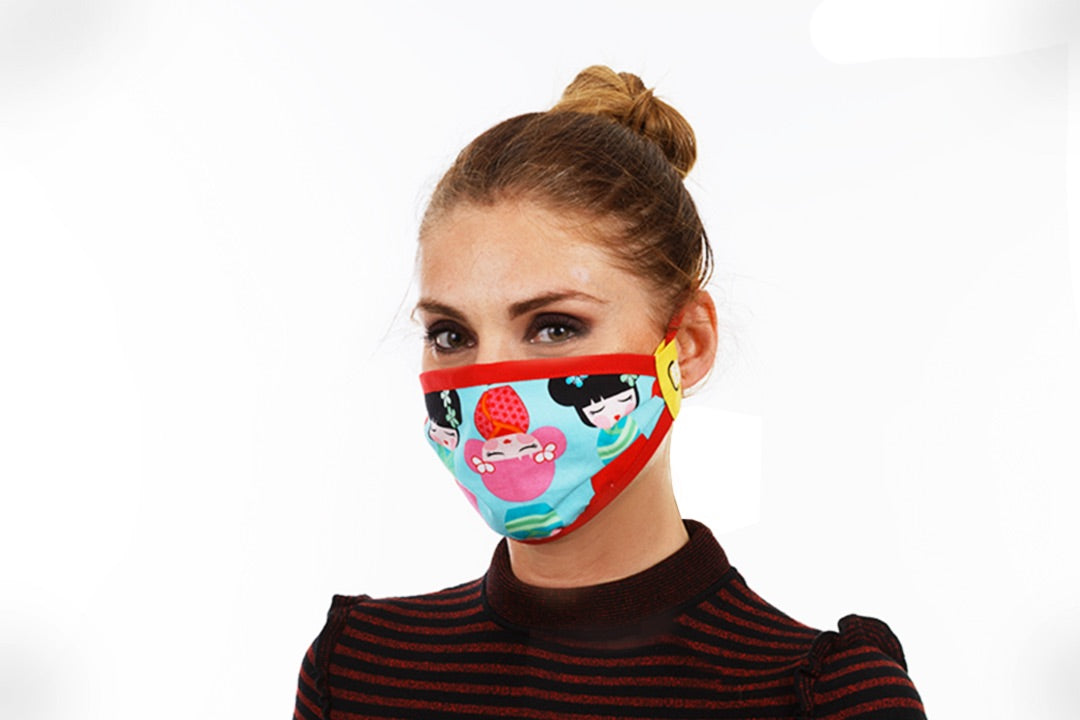 Cute Girl | Face Mask - Happy Mask