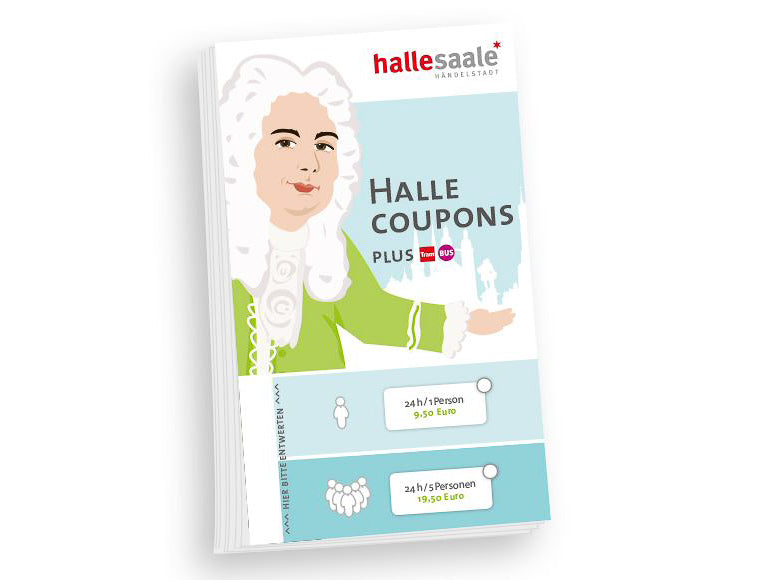 "Coupons ""hallesaale*"" 48 h/ bis zu 5 Person"