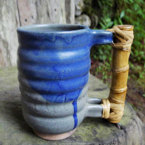Bamboo Mountain Mug Blue Wash