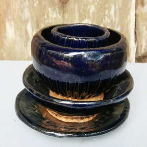 Deep Blue Tower Bowl