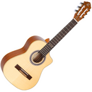 Ortega Requinto Series Pro Deep Body Classical Acoustic Guitar in Natural Satin - Solid Engelmann Spruce Top