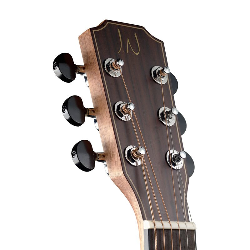 J.N Guitars Deveron Series DEV-A Mini Acoustic Travel Guitar in Natural
