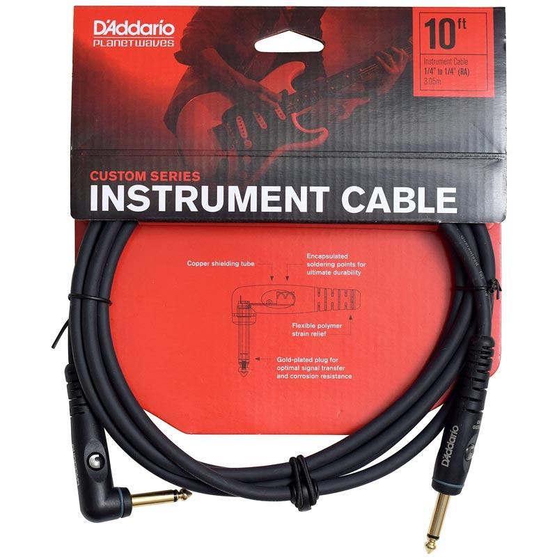 D'Addario Custom Series Instrument Cable - Right Angle