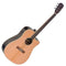 J.N Guitars Ezra Series EZR-DCFI Electro-Acoustic Guitar in Natural Satin