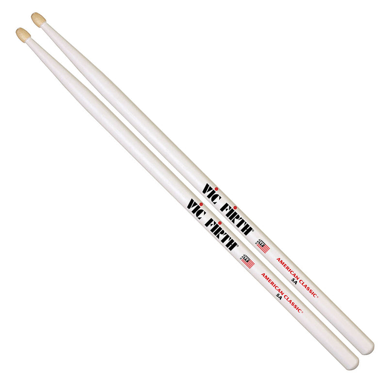 Vic Firth American Classic 5A in White - Wood Tip