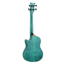Ortega 25th Anniversary Electro-Acoustic Bass Guitar in Magic Blue Gloss