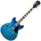 Ibanez Artcore AS73FM Semi Hollowbody in Azure Blue Graduation