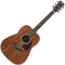 Ibanez Artwood AW54-OPN Dreadnought Acoustic Guitar in Open Pore Natural