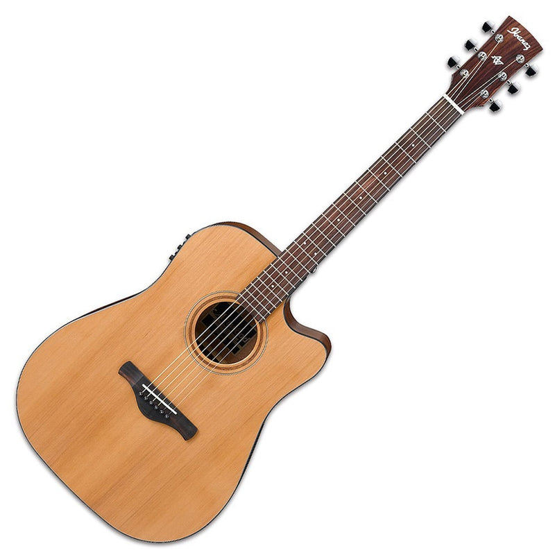 Ibanez Artwood AW65ECE-LG Dreadnought Electro-Acoustic Guitar in Natural Low Gloss