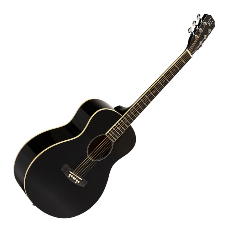 J.N Guitars Bessie Series BES-A Mini Acoustic Travel Guitar in Black