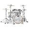 "DW Design Series Seamless Acrylic Shell Pack In Clear - 22""BD, 10""RT, 12""RT, 16""FT & 14""SD"