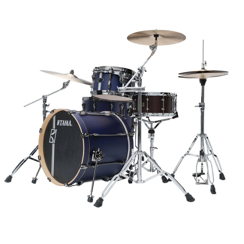 "Tama Superstar HyperDrive ""Duo Snare"" Shell Pack - Satin Blue Vertical Stripe"