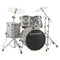 "Ludwig Evolution 22"" Fusion Drum Kit in Silver/White Sparkle"