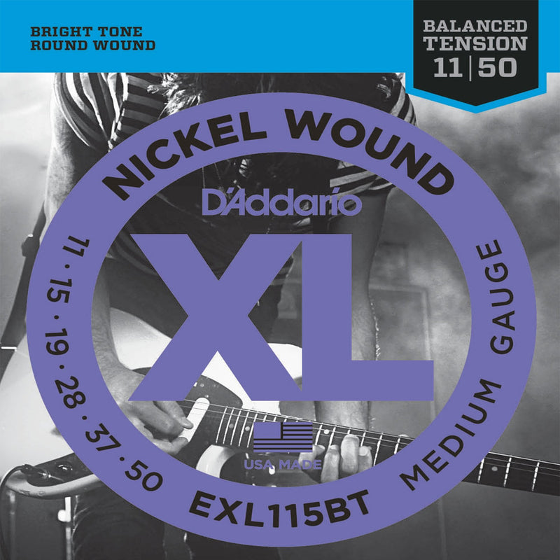 D'Addario EXL115BT XL Nickel Wound, Balanced Tension, Medium (.011 -.050)