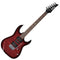 Ibanez Gio GRX70QA-TRB Electric Guitar in Transparent Red Burst