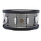 "Gretsch ""Full Range"" 14""x6.5"" Black Nickel Hammered Steel Snare Drum with Wood Hoops"