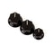 Fender Jazz Bass Knobs (2 Large, 1 Small) - Black **Genuine Fender Parts**