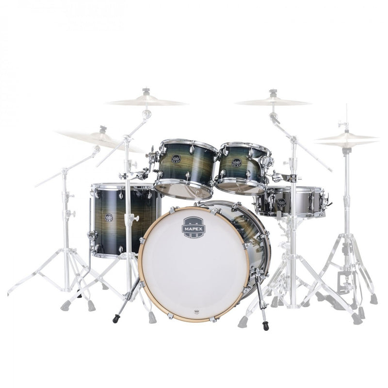 "Mapex Armory Shell Pack | 5 Piece 22"" Power Fusion in Rainforest Burst"