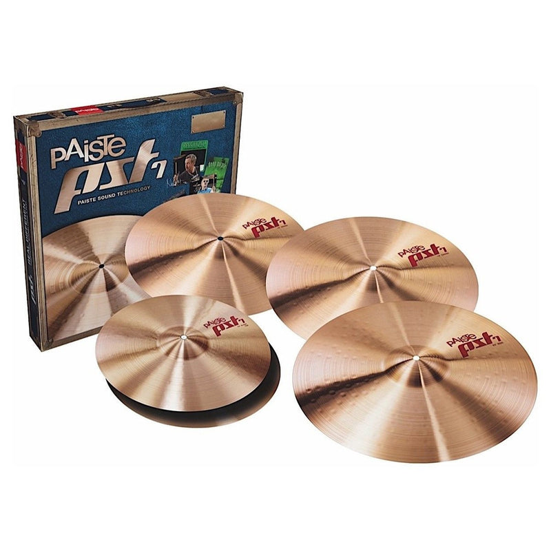 "Paiste PST 7 Universal Set (14"" Hats, 16"" & 18"" Crashes, 20"" Ride)"