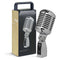 Stagg SDM100 Vintage Dynamic Vocal Microphone in Chrome (XLR-XLR Included)