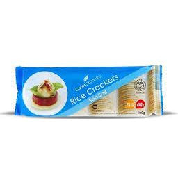Ceres Organic Rice Crackers Sea Salt 100g