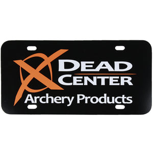 Dead Center Logo License Plate