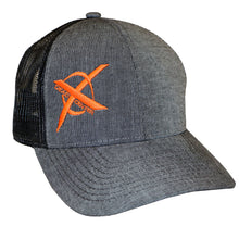 Load image into Gallery viewer, X Logo Hat, Mesh Back. Gray