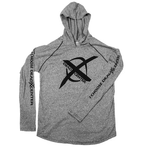 Next Level X Logo Hoodie, Lightweight - Heather Gray
