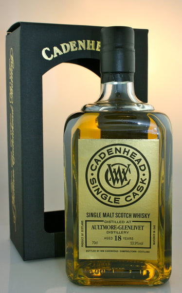 AULTMORE 18yo, 53.9% single malt from Speyside Scotland in Hong Kong by Cadenhead