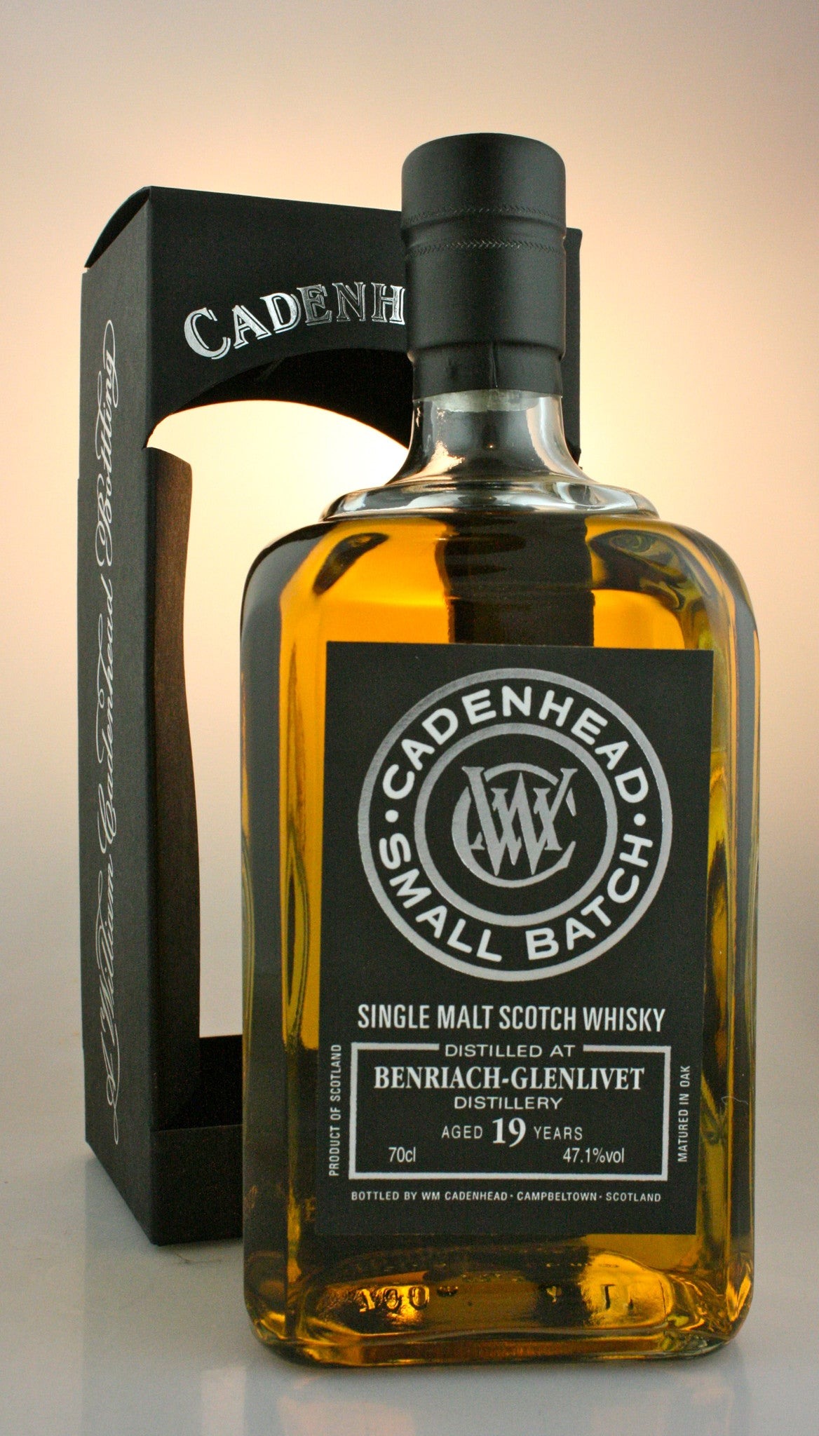 BENRIACH 19yo, 47.1% single malt from Speyside Scotland in Hong Kong by Cadenhead