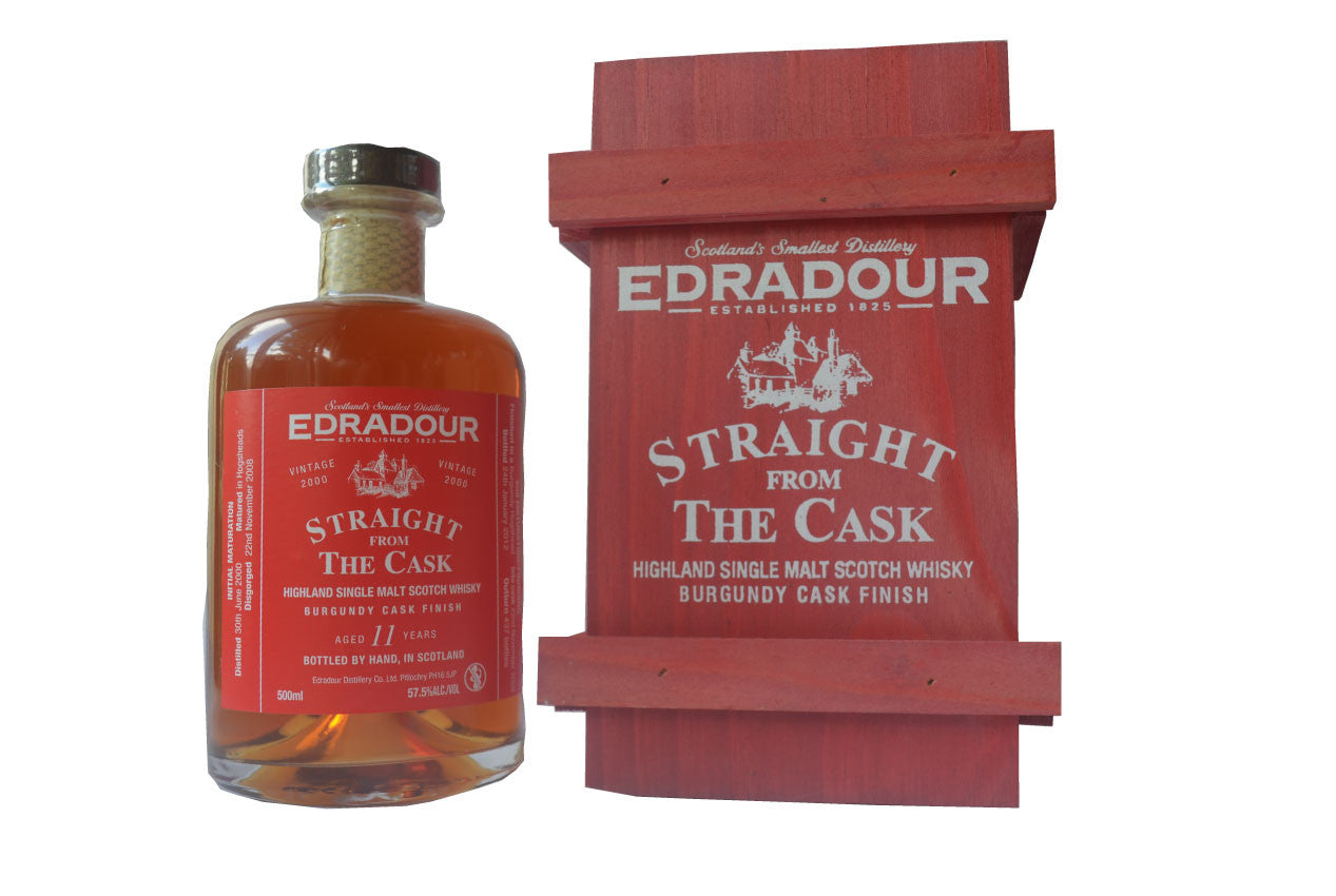 Edradour, a Highland Cask Strength Single Malt Scotch Whisky in Hong Kong distilled in 2000, bottled in 2012 at 57.5%